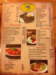 セブ島フィリピン料理 STK|メニュー