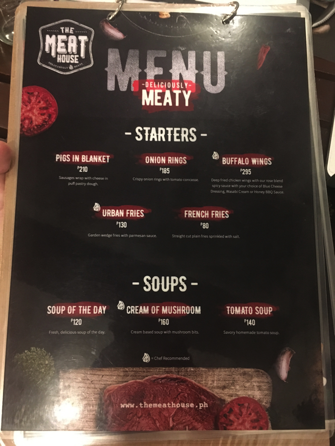 THE MEAT HOUSEのメニュー