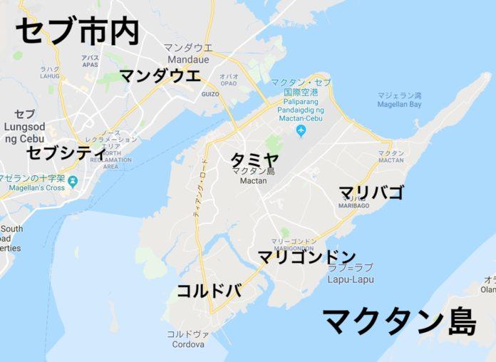 マクタン島の地図