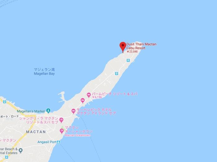 map mactan hotel