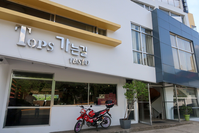 Tops Korean restoの外観